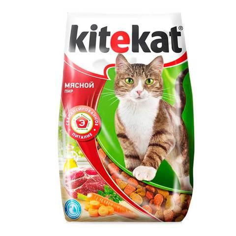 Корм д/кошек kitekat 800г мясной пир