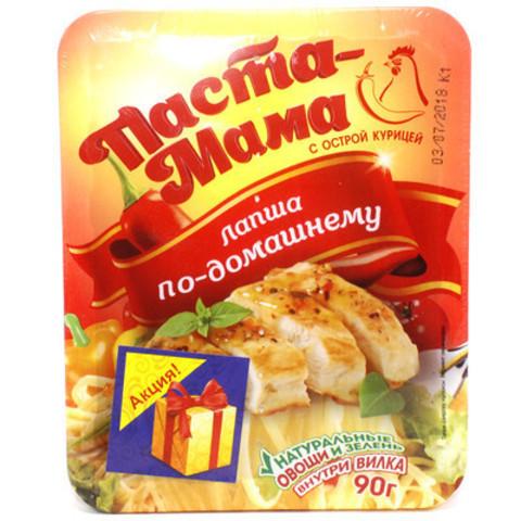 Лапша паста мама 90г кур острая+соус аромачаша