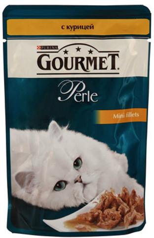 Корм д/кошек gourmet 85г курица конс